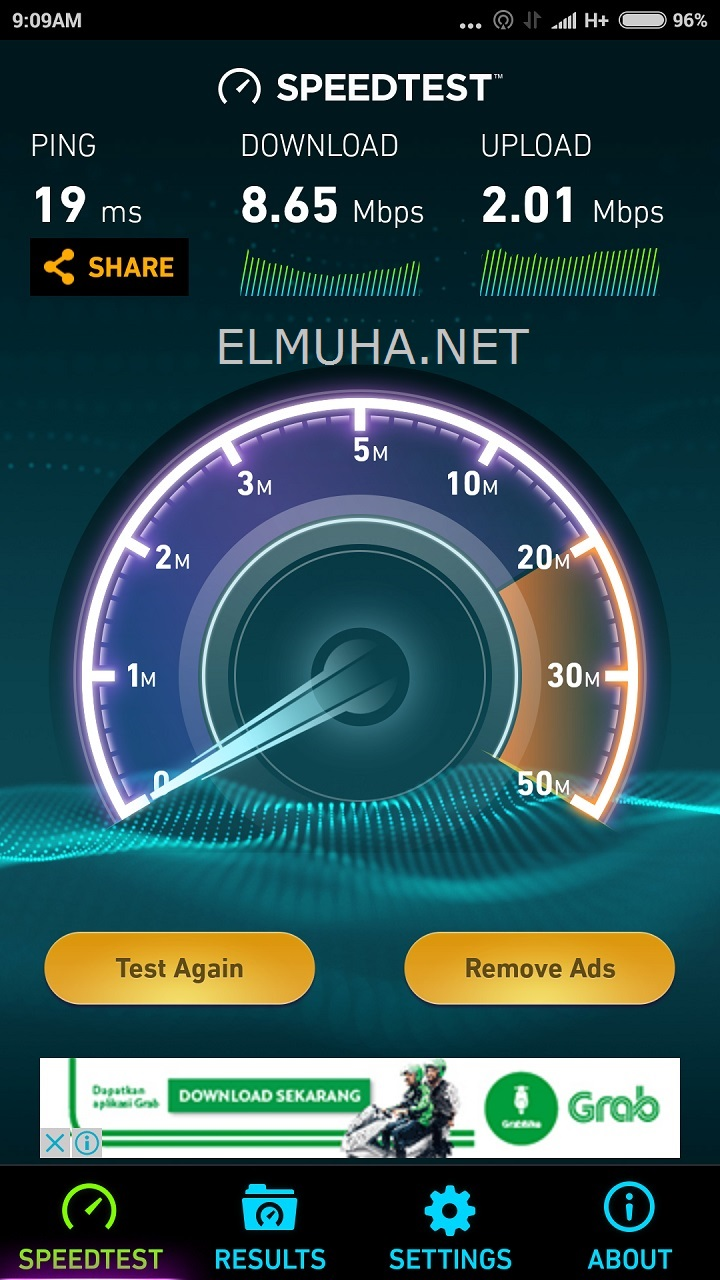 speedtest-paket-internet-telkomsel-flash-100-ribu-14gb