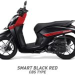 Honda Genio Smart Hitam Merah CBS