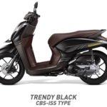 Honda Genio Trendy Black hitam CBS ISS