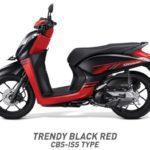 Honda Genio Trendy hitam merah CBS ISS