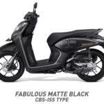 Honda Genio matte black hitam doff CBS ISS