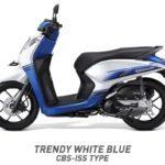 Honda Genio trendy putih biru CBS ISS