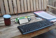 Ngeblog pakai hp android pakai keyboard fisik eksternal