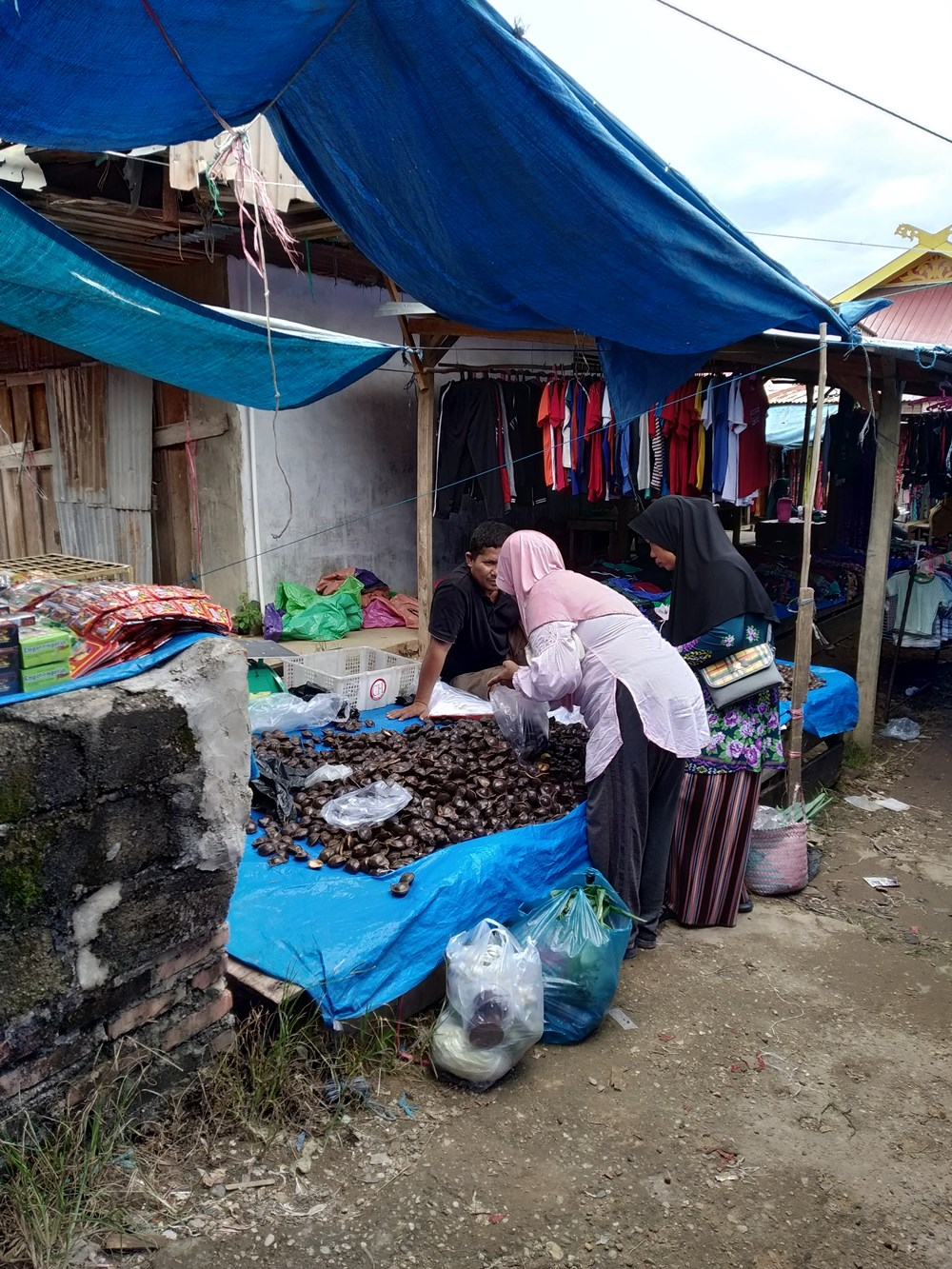 Foto Gratis Pasar Free Stock Photo Traditional market in Indonesia Asia 030 penjual jengkol