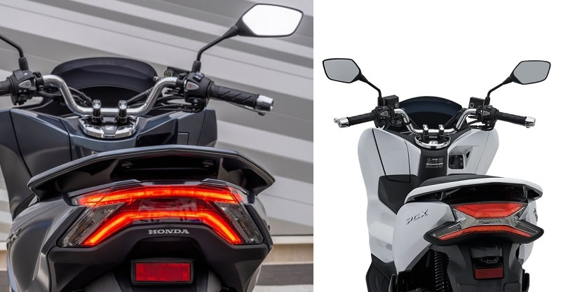Honda PCX160 2021 vs PCX150 stoplamp